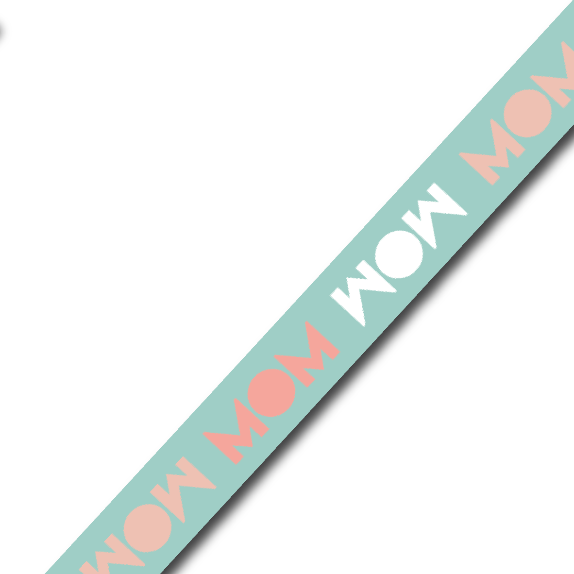 Brede Washi tape: MOM (m21)