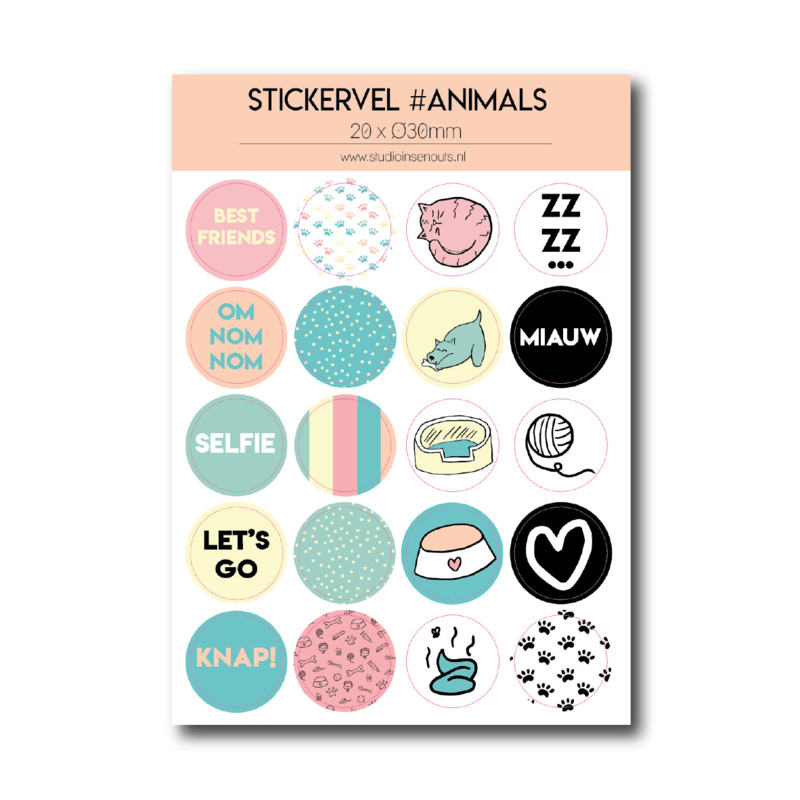 Stickervel | Love the animals