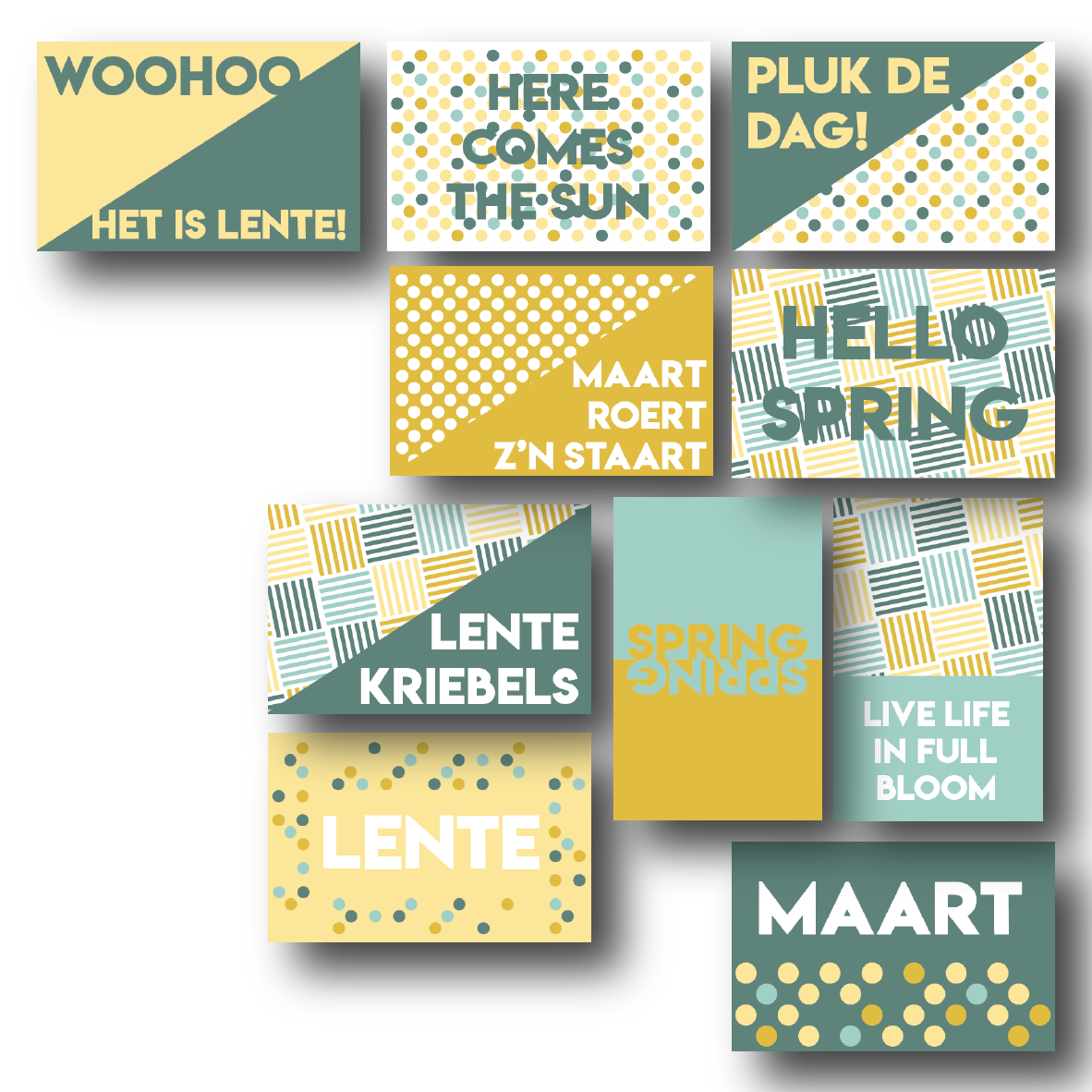 Set van 10 quotekaartjes LENTE 2020