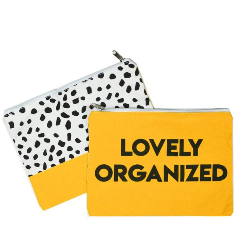 Etuis 'Lovely Organized' - okergeel