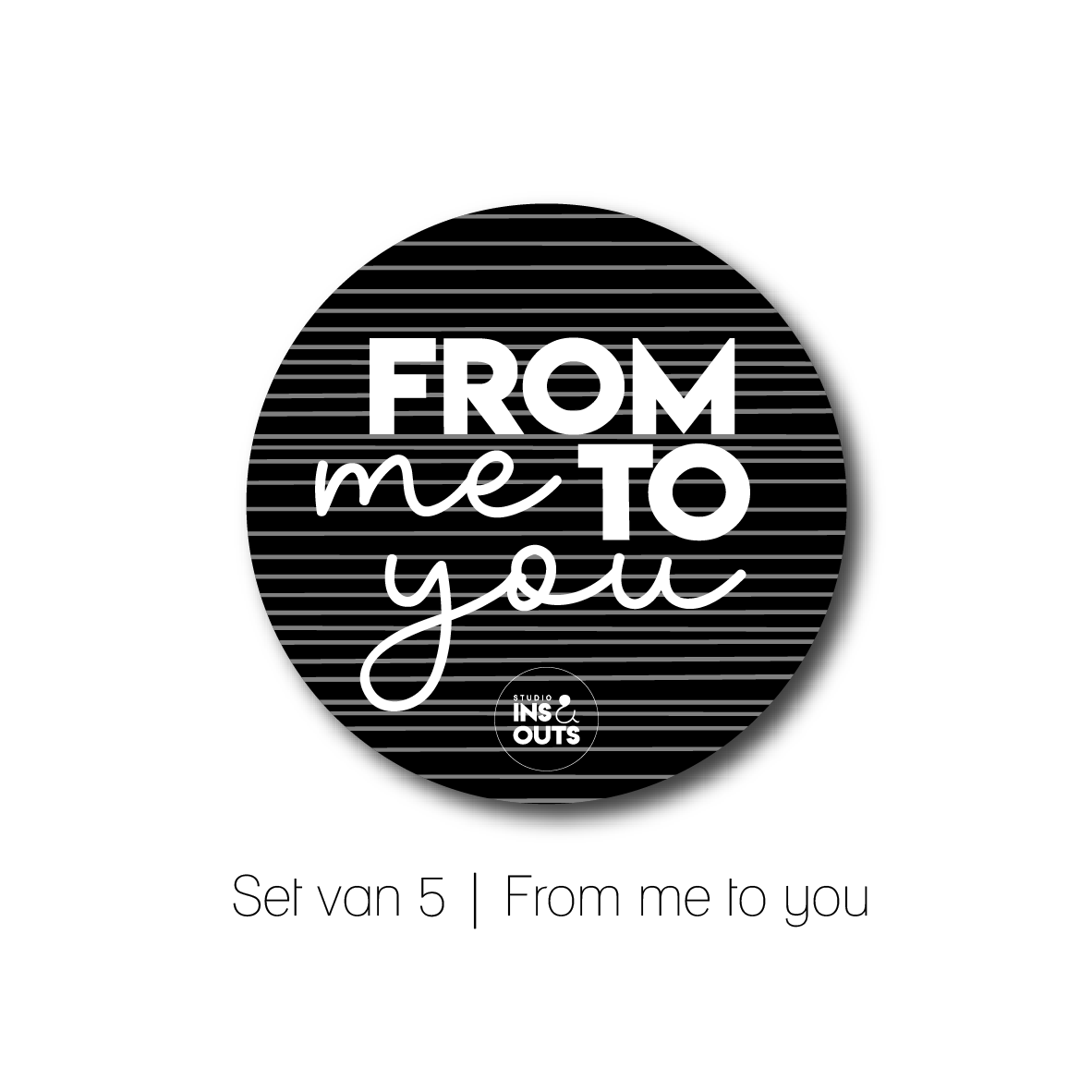 Set van 5 cadeau stickers | From me to you