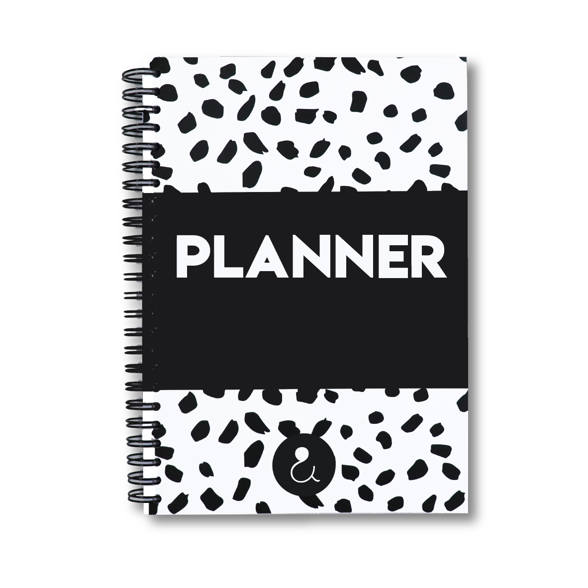 Planner a5 met stickers | monochrome