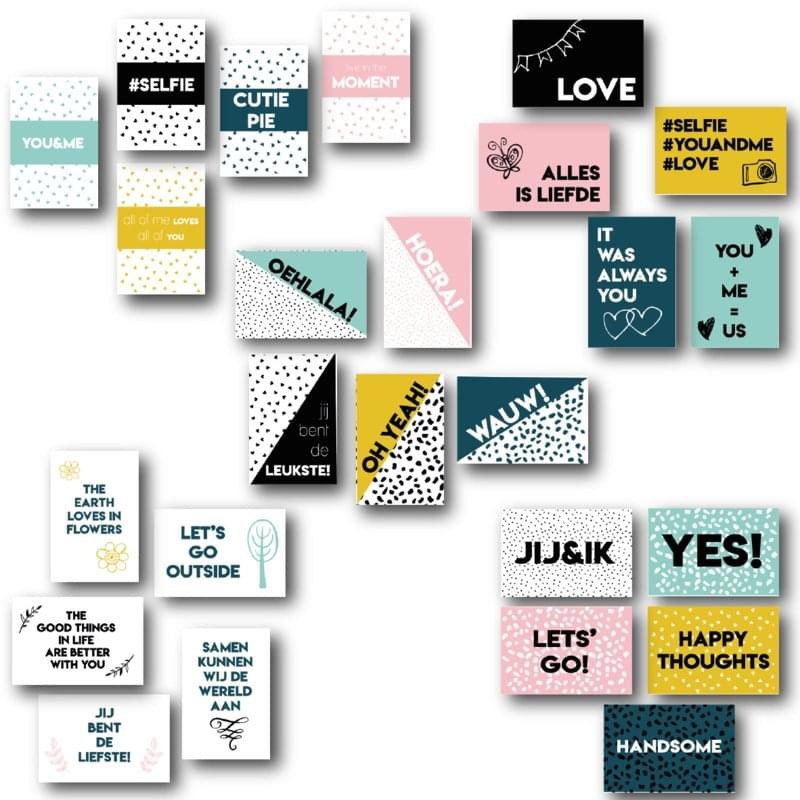 Set van 25 Quotekaartjes | Love