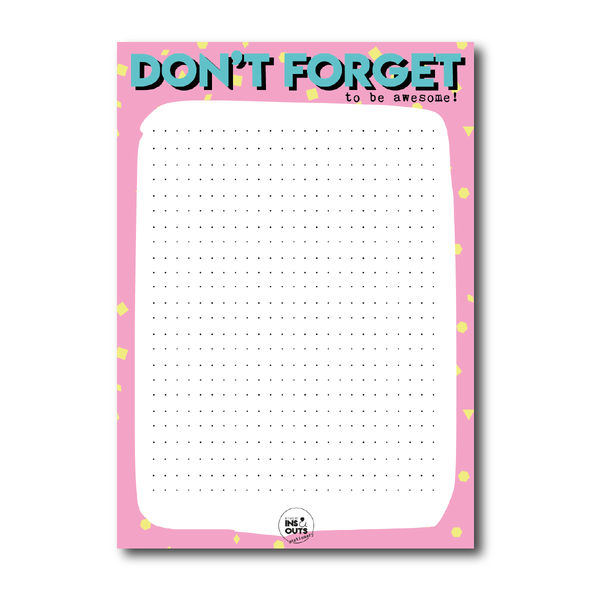 A5 notepad   Don't forget