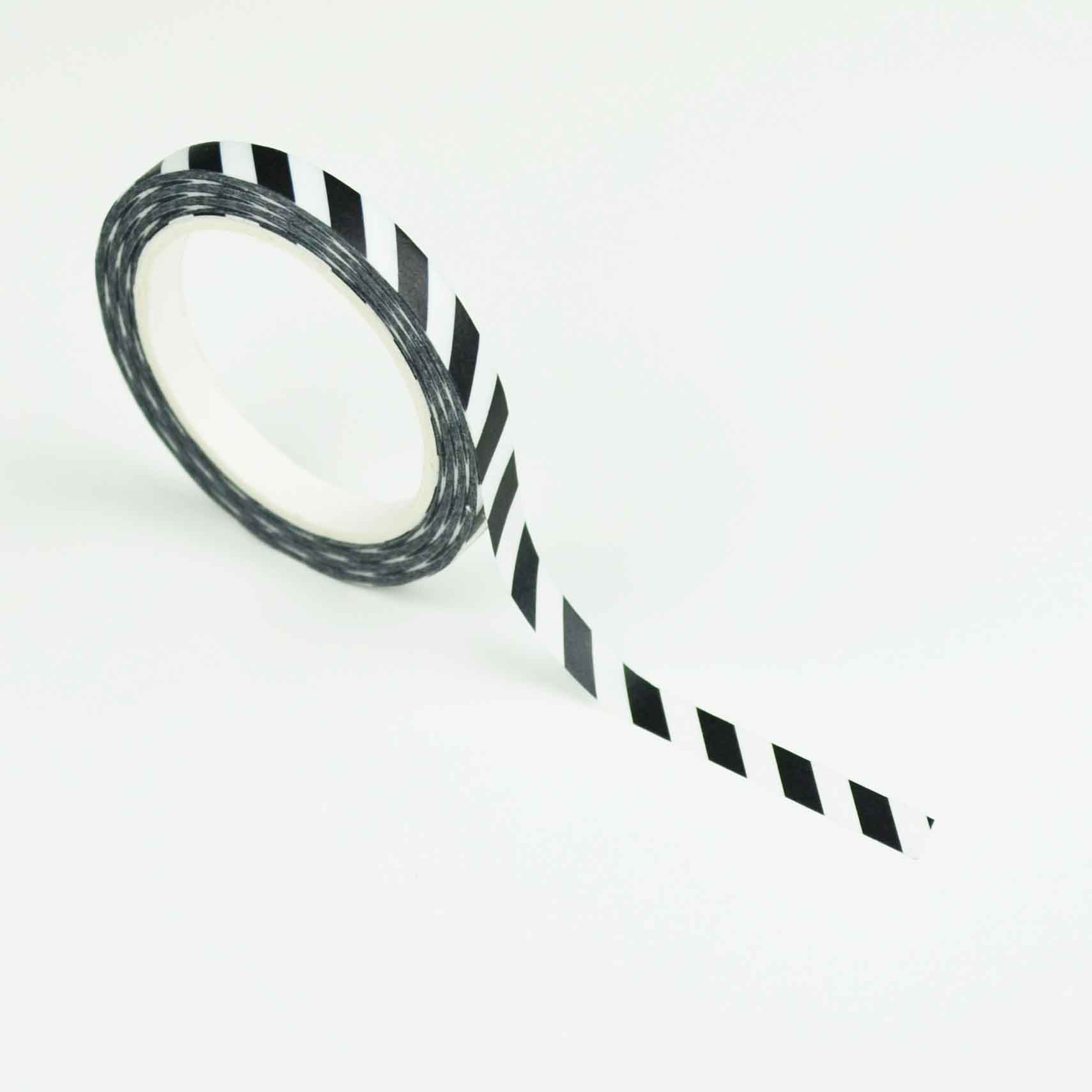 Smalle washi tape: Black stripes
