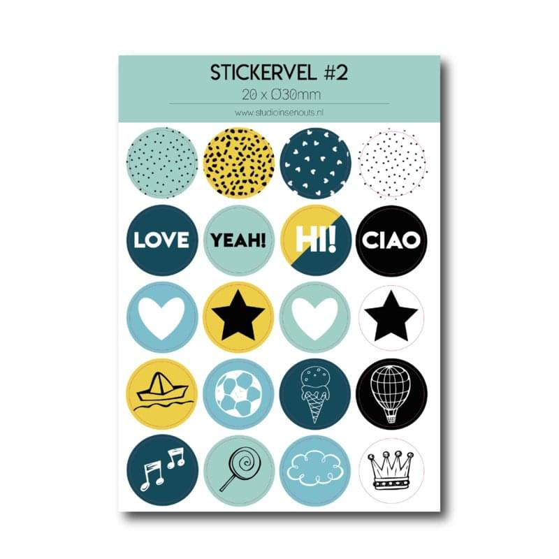 Stickervel | Multi mint