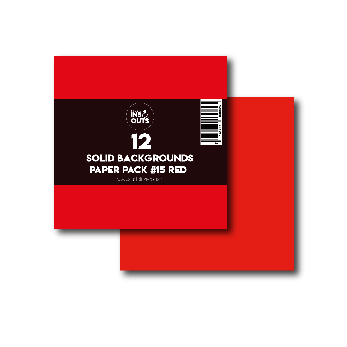 Paper Pack #15 - rood effen