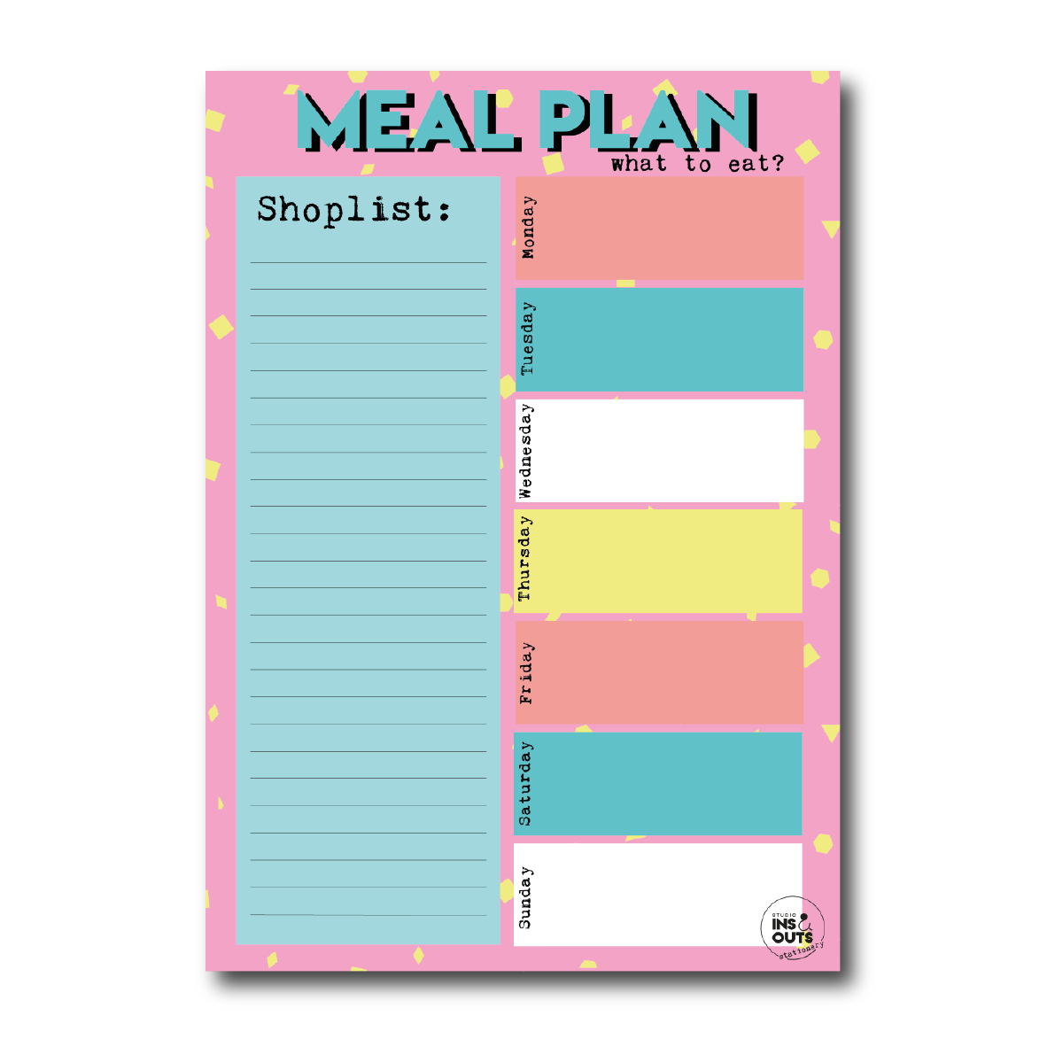 A5 notepad | Meal Planner
